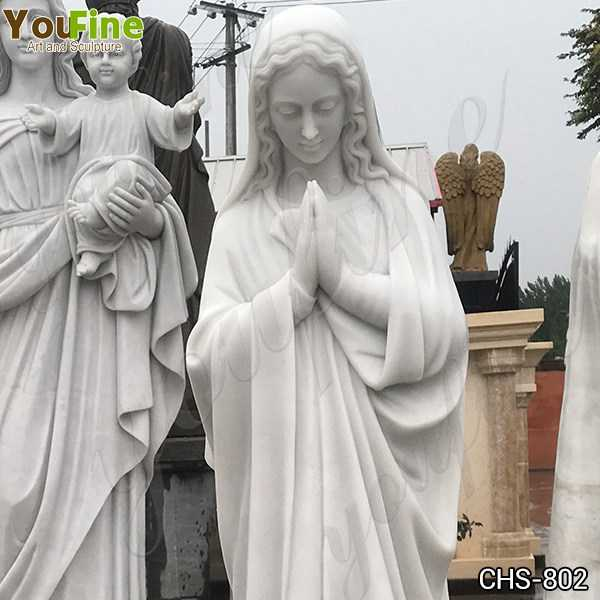 Outdoor Blessed Mother Virgin Mary Marble Statue for Sale