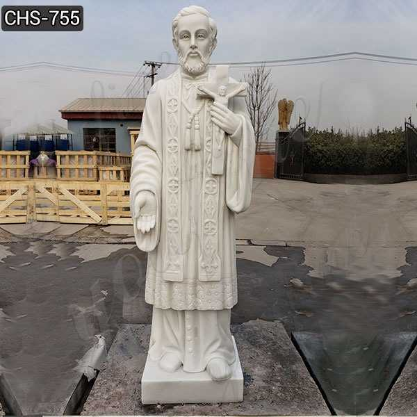 Outdoor Catholic St. Francis Xavier Marble Statue Suppliers CHS-755