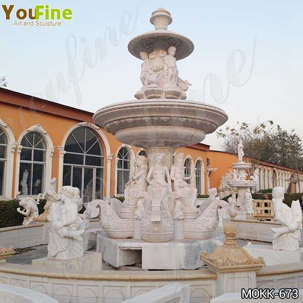 Outdoor Large Greek Marble Statue Water Fountain for Sale