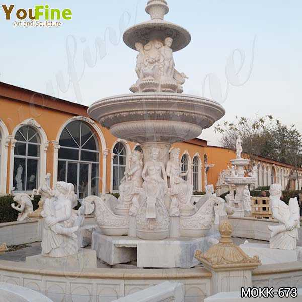 Outdoor Large Greek Marble Statue Water Fountain