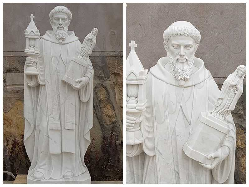 Outdoor Religious Saint Marble Statue for the Garden detail