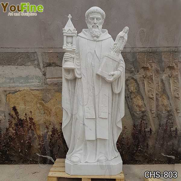Outdoor Religious Saint Marble Statue for the Garden for Sale CHS-803