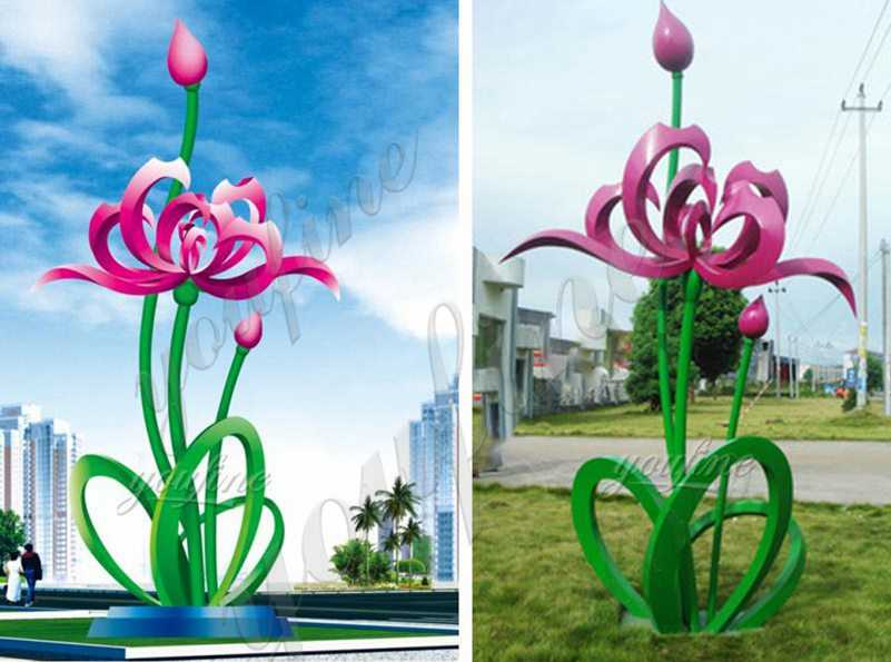 Outdoor Stainless Steel Floral Sculpture for Garden Suppliers