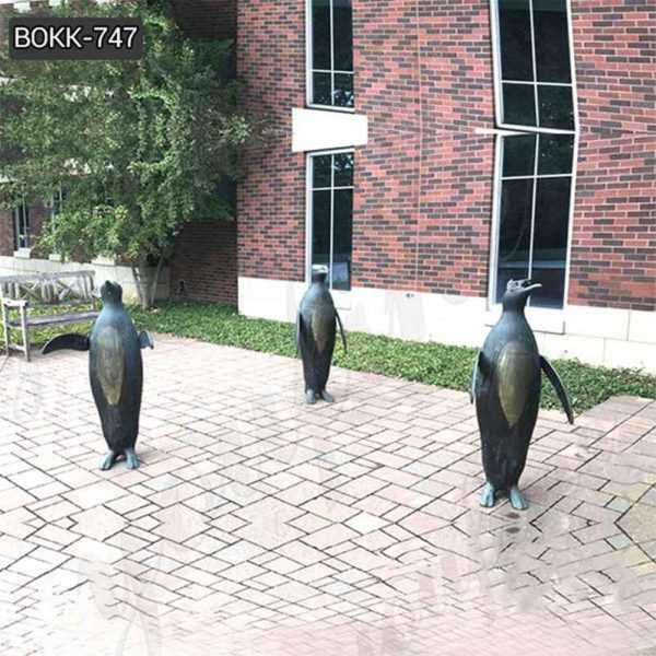 Outdoor Three Penguins Bronze Garden Statues Manufacturer