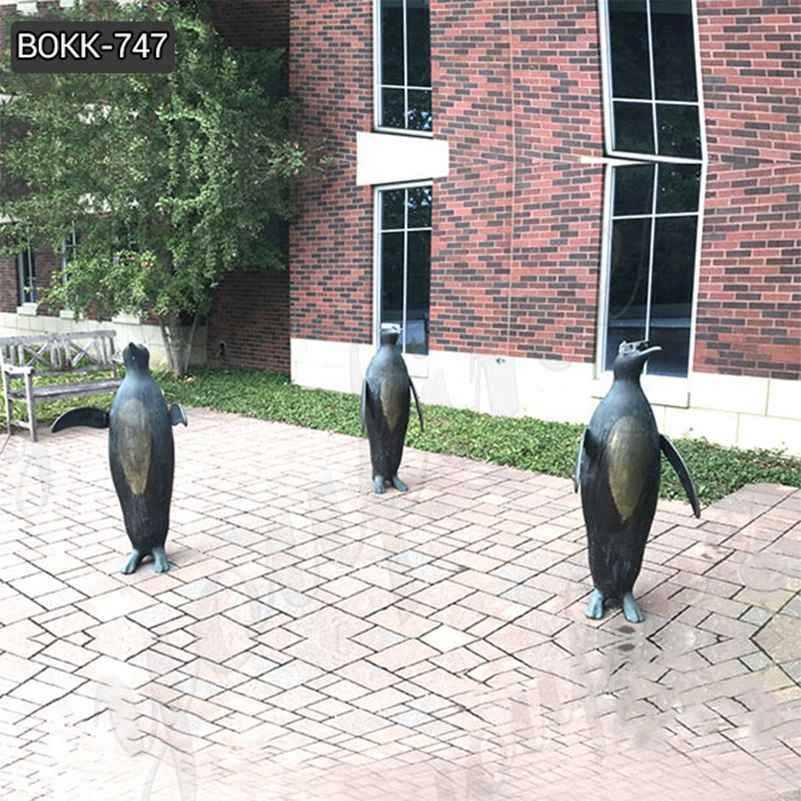 Outdoor Three Penguins Bronze Garden Statues Manufacturer BOKK-747