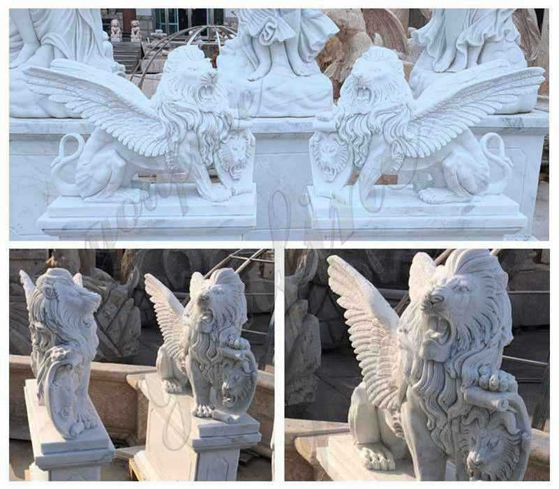 Outdoor-garden-marble-lion-statue-for-sale