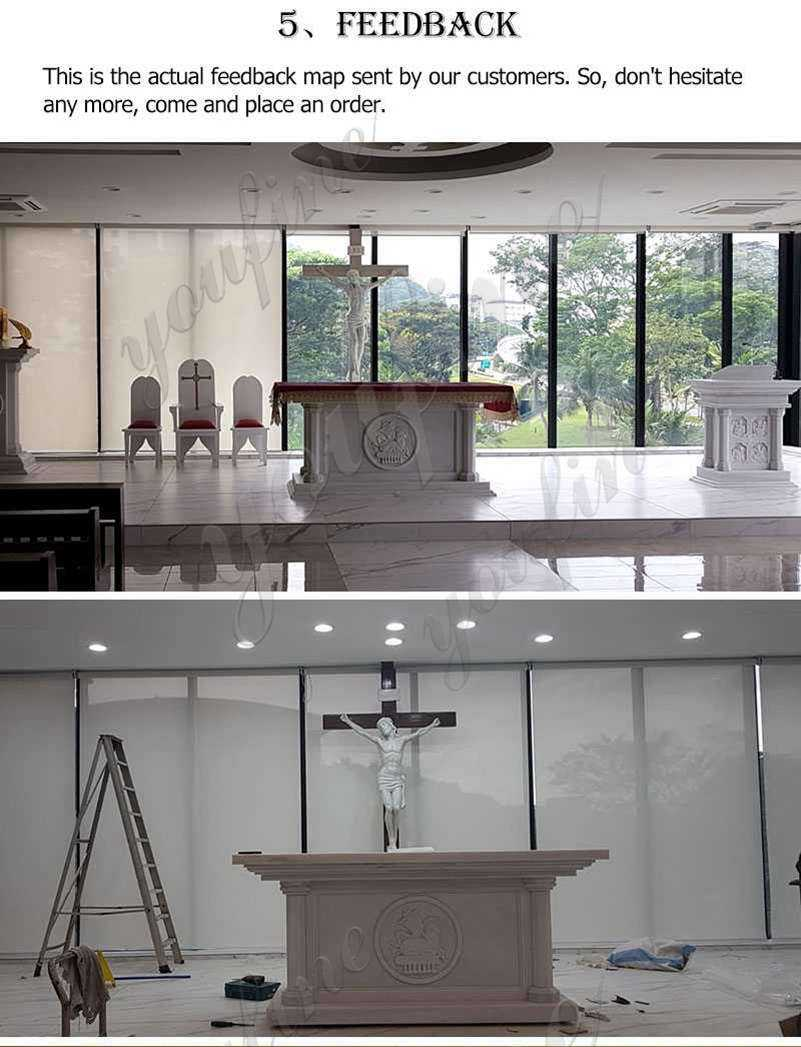 Religious Marble Altar Table Factory Suppliers