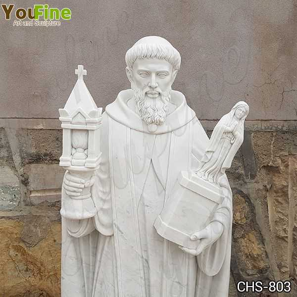 Religious Saint Marble Statue for the Garden for Sale