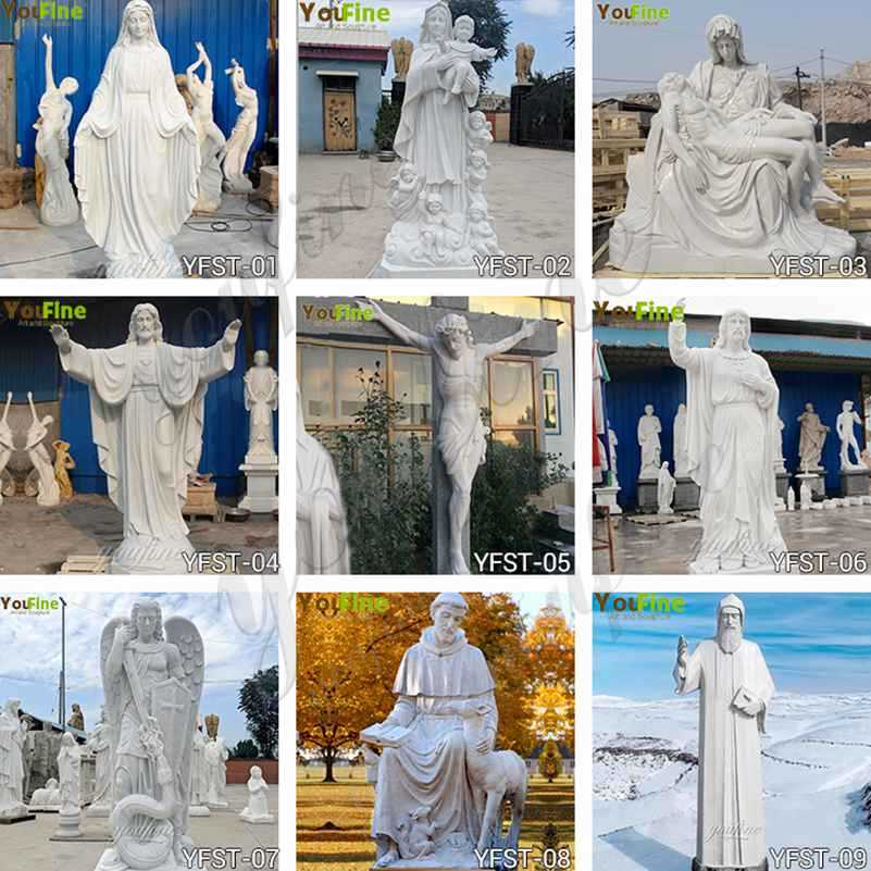 Saint Marble Statue for the Garden for Sale