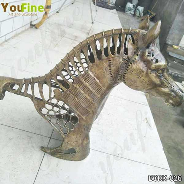 New Design Solid Bronze Horse Head Statue Manufacturer BOKK-826