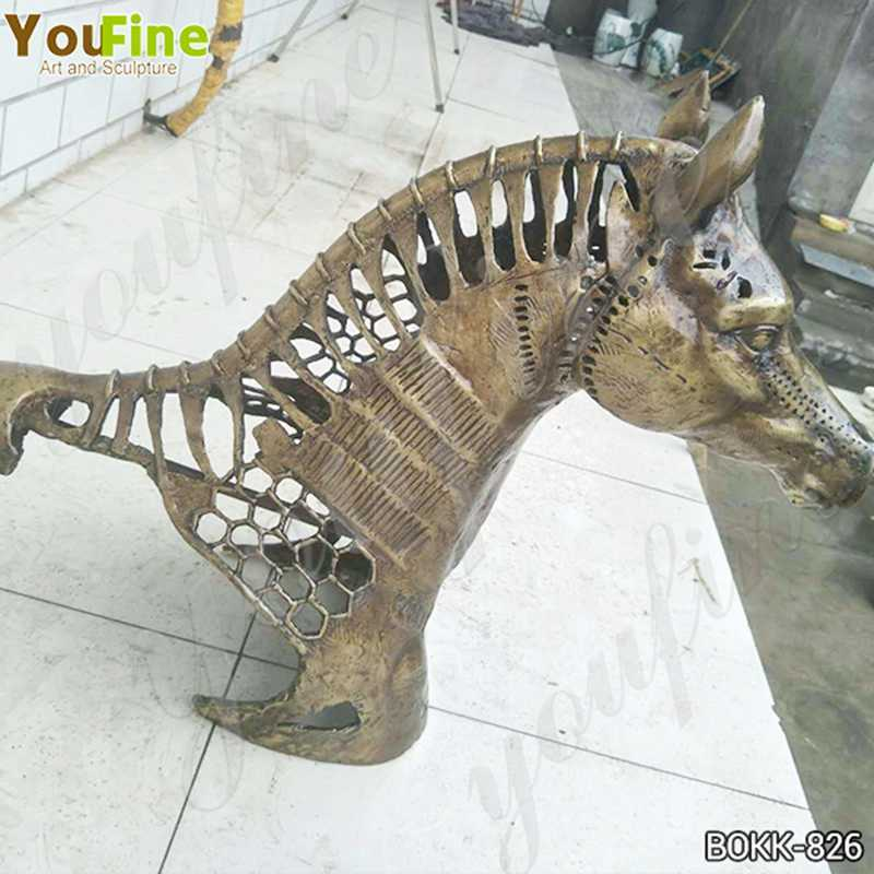 New Design Solid Bronze Horse Head Statue Manufacturer BOKK-826
