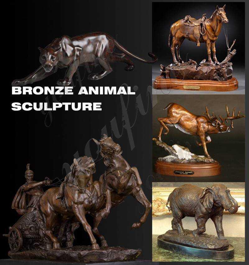 Solid bronze dog sculptures for sale