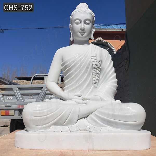 White Marble Buddha Statue for Garden Decor Manufacturers