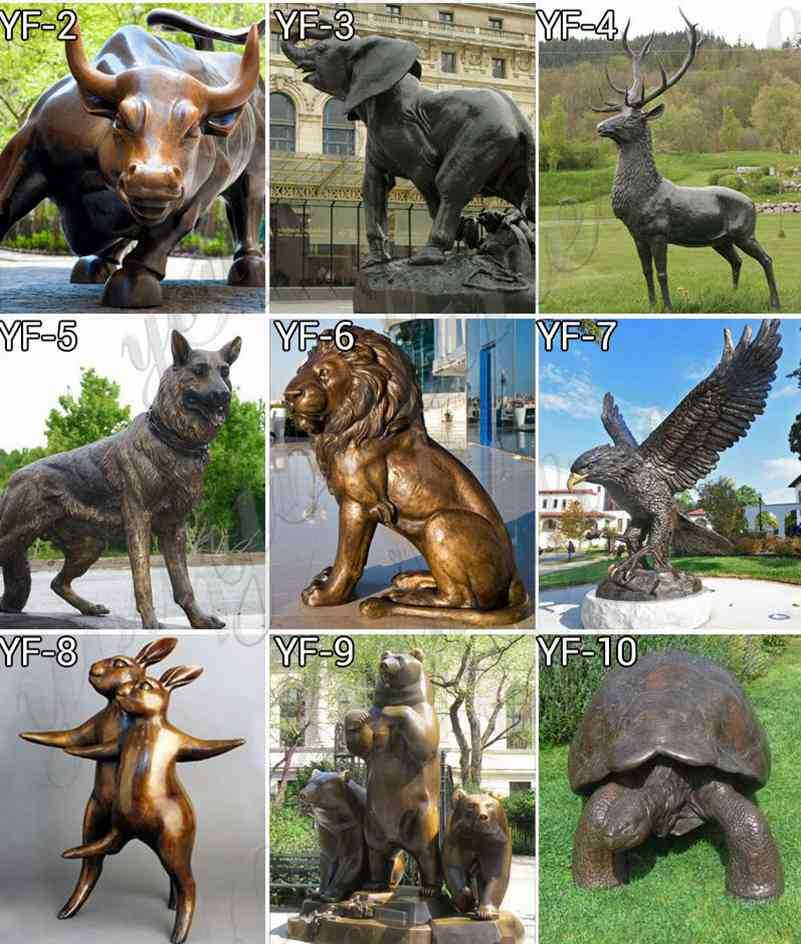 bronze animal sculpture for sales