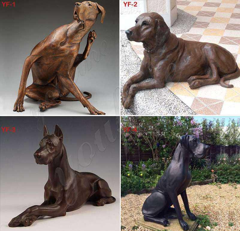 bronze dog sculptures for sale