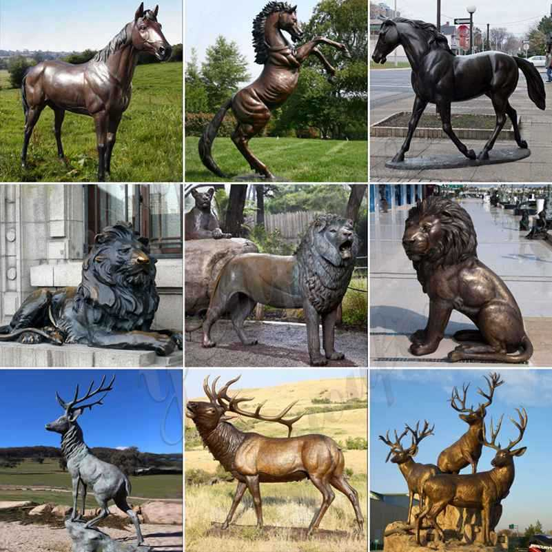 bronze metal animal statues for sle