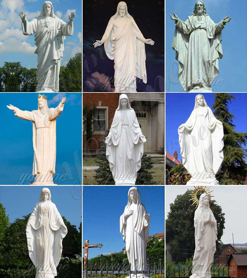 large Outdoor Marble Jesus Statue with Hands Open