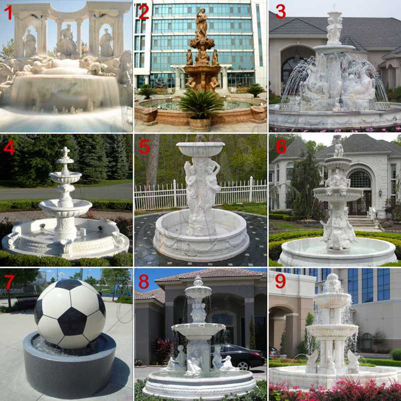 large outdoor wall fountain for sale