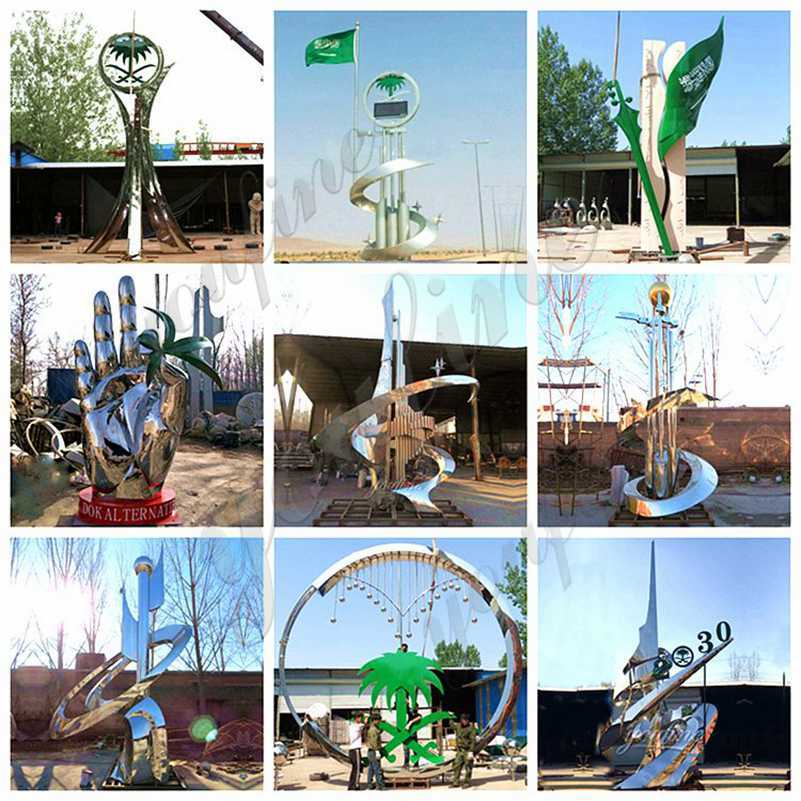 large stainless steel sculpture