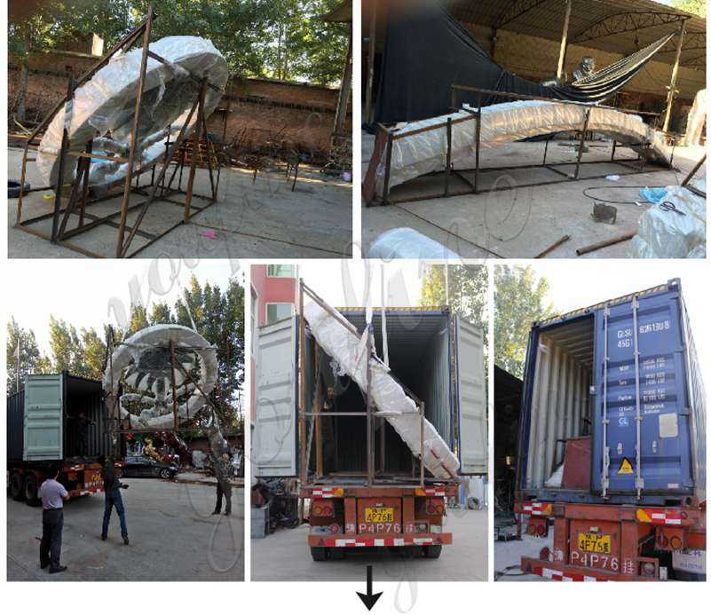 packing of Stainless Steel Abstract Clock Sculpture