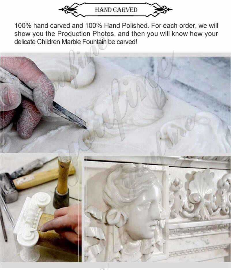 process of Estate Huge Marble Winged Western Lion Statues