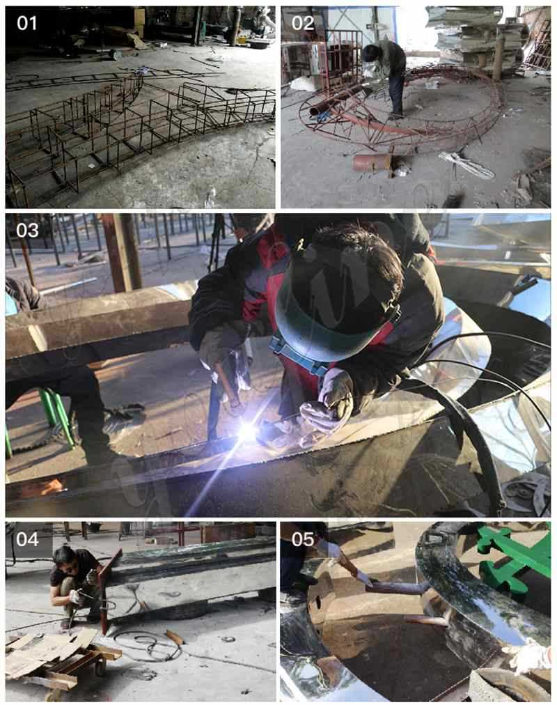 process of Stainless Steel Sculpture for Garden Suppliers