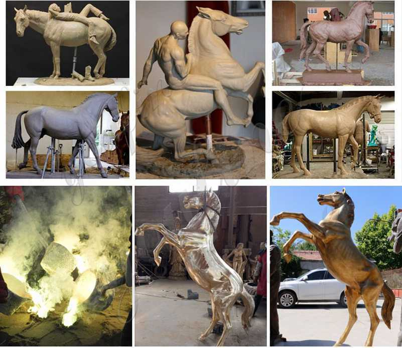 process of life size horse statues for sale