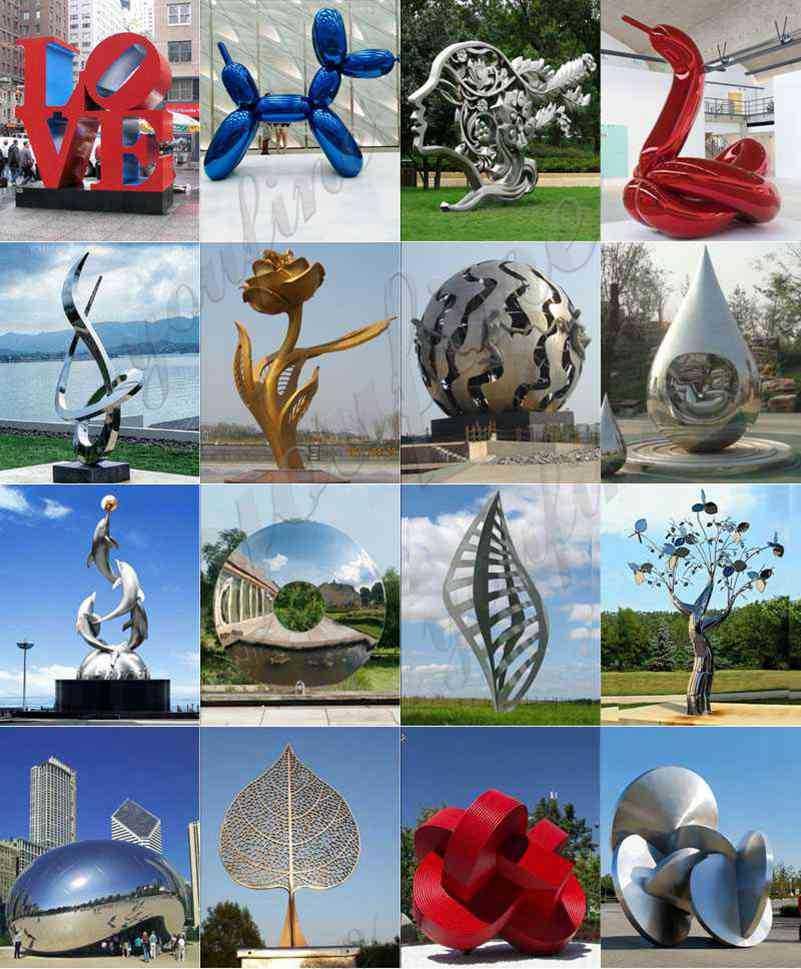 stainless steel modern sculpture