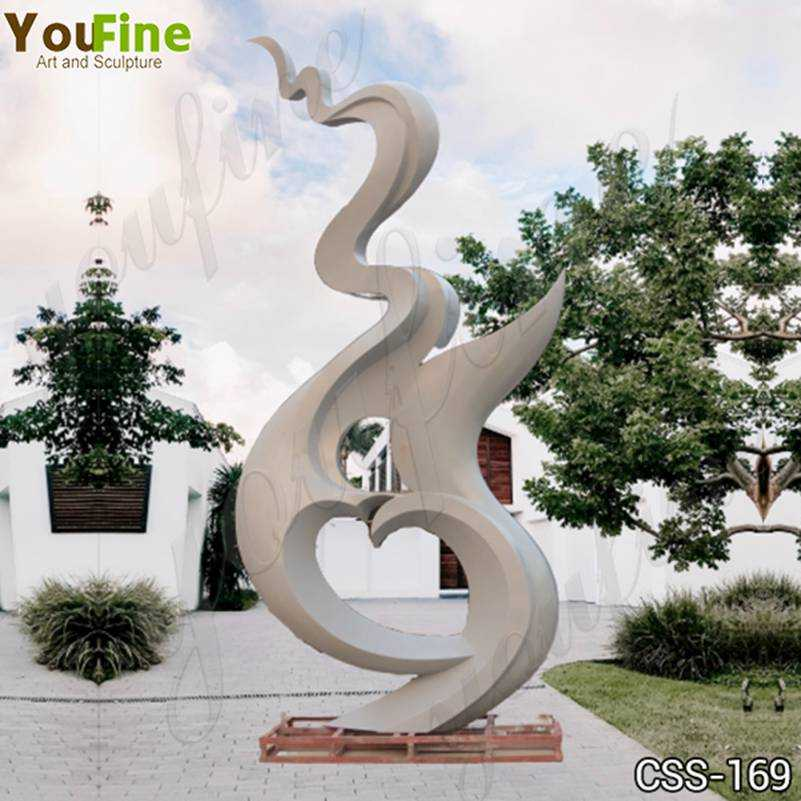 Large Abstract Stainless Steel Outdoor Sculpture Manufacturer CSS-169