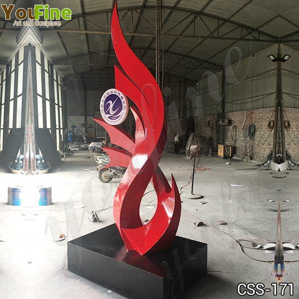 Abstract Stainless Steel Sculpture for School