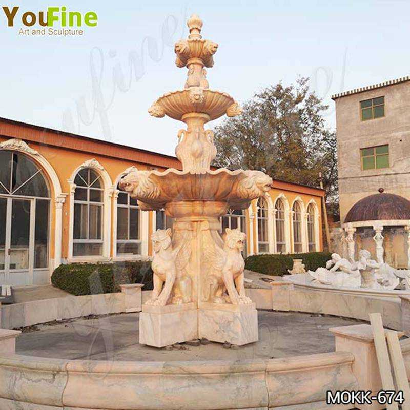 Large Animal Marble Water Fountain for Garden Decor Suppliers MOKK-674