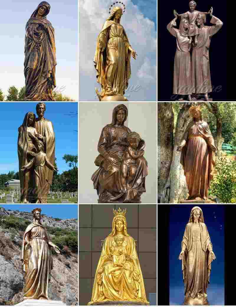 Antique Bronze Christ Jesus Statues in Prayer