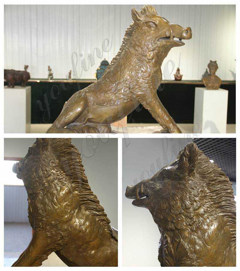 Best Price the Famous Bronze Boar Statue detail