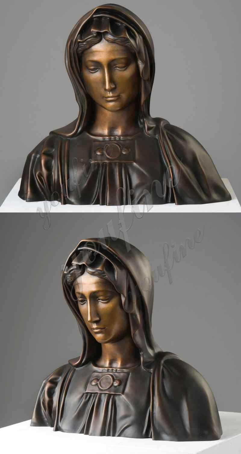 Bronze Madonna Sculpture