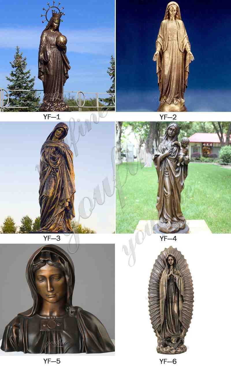 Bronze Our Lady of Guadalupe Sculpture