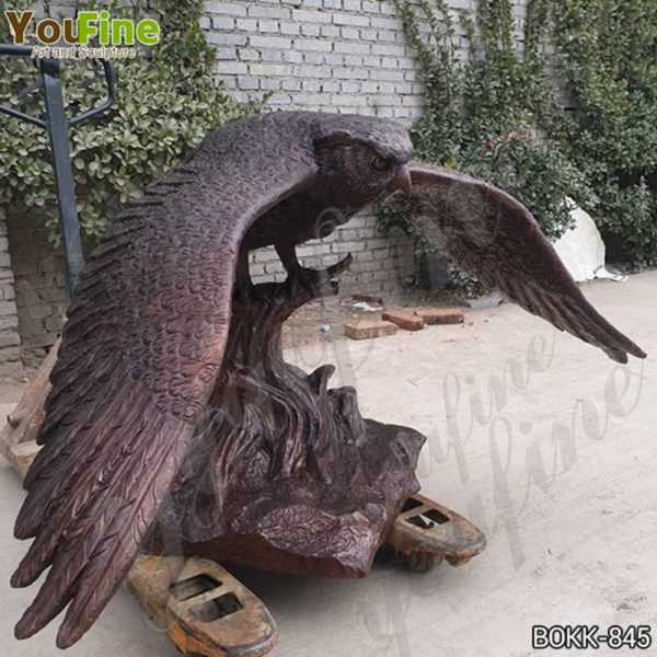 Life Size Cast Bronze Owl Statue with Base Suppliers BOKK-845