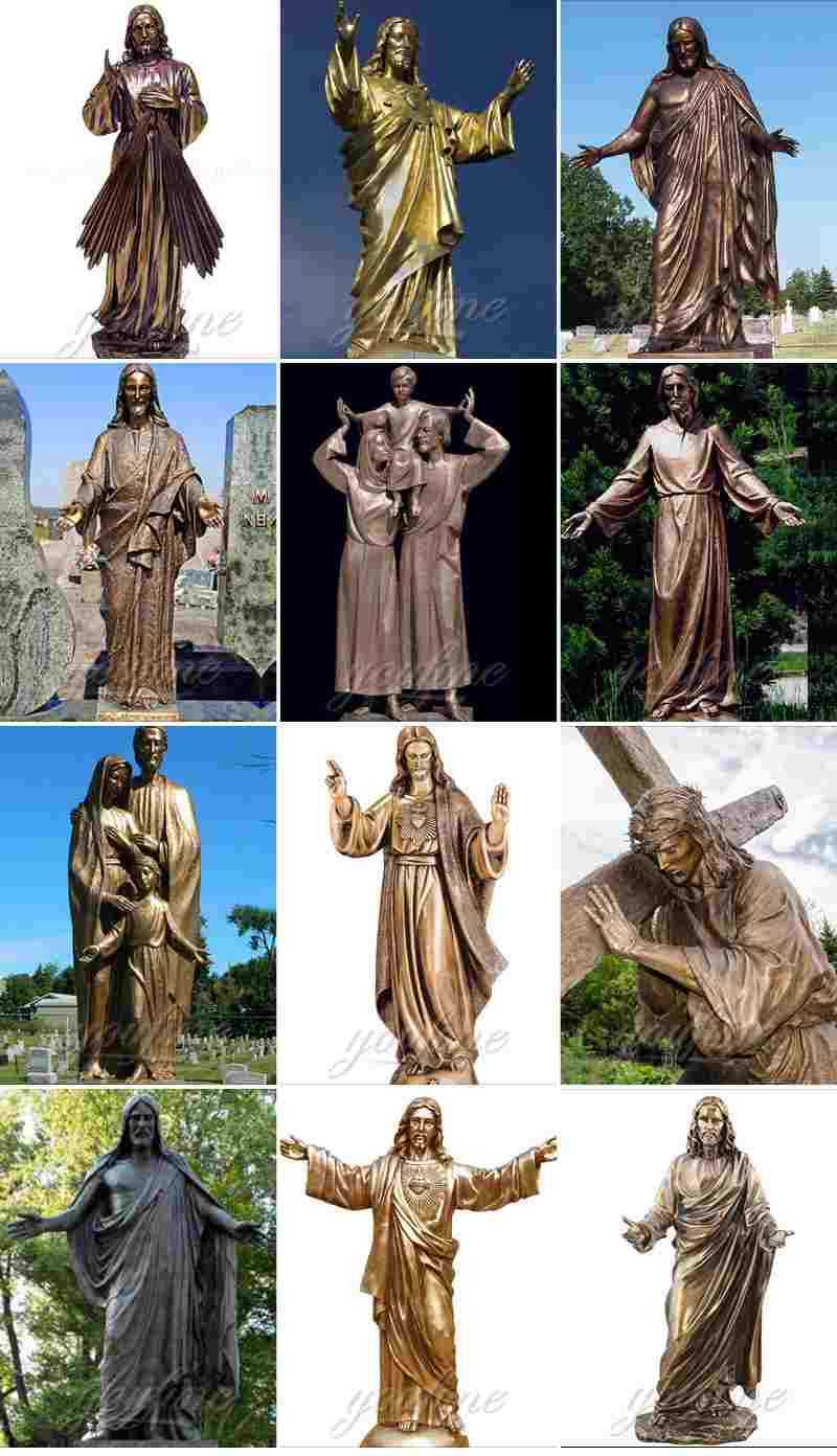 Casting Bronze Jesus The Good Shepherd Sculpture
