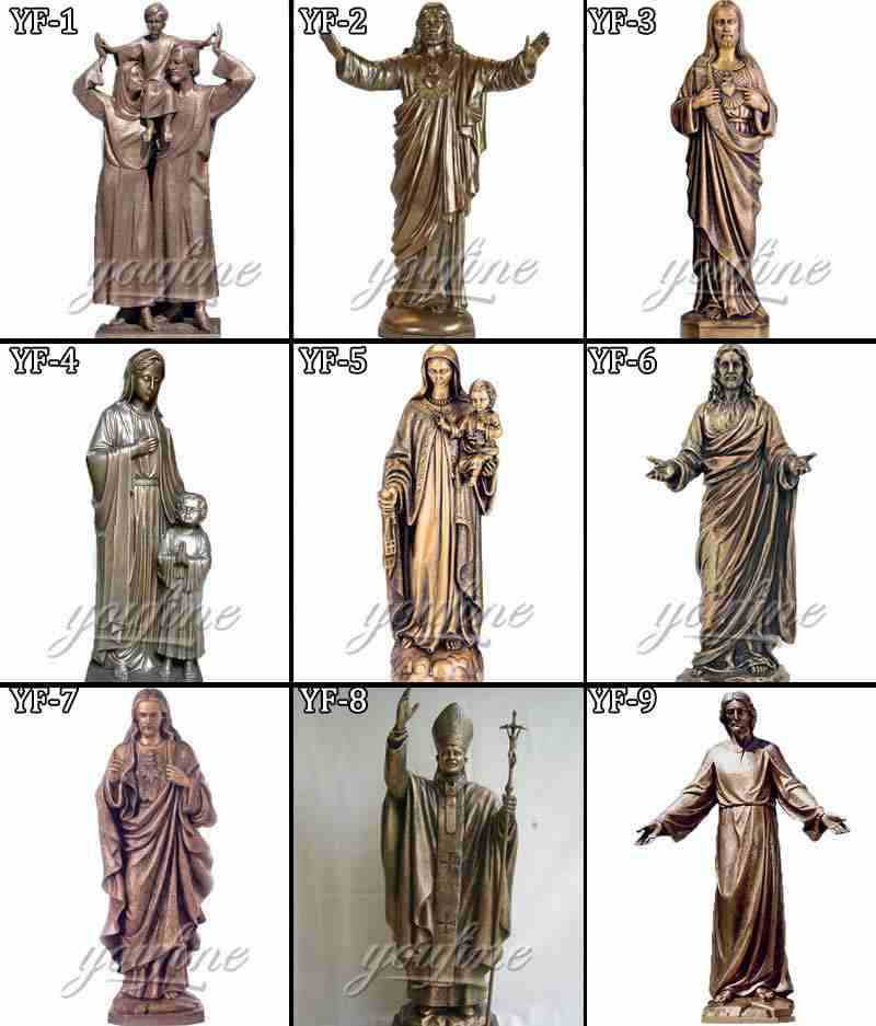 Catholic Jesus The Good Shepherd Garden Statues