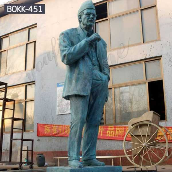 Custom Made Large Outdoor Bronze Man Statue for Customer Suppliers