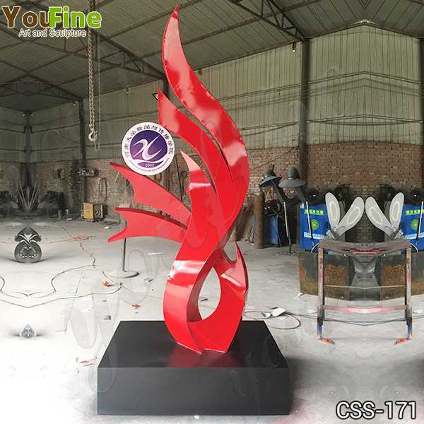 Custom Made Modern Abstract Stainless Steel Sculpture for School