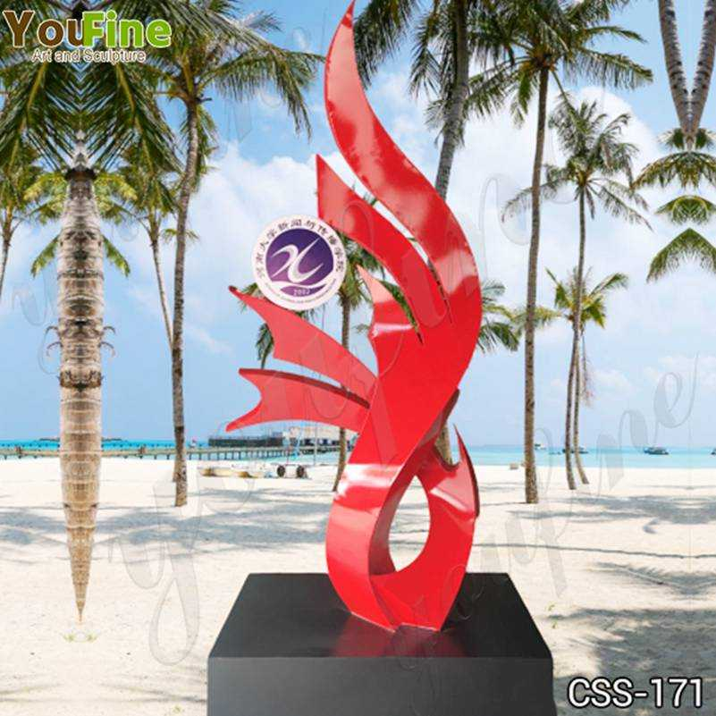 Custom Made Modern Abstract Stainless Steel Sculpture for School Decor CSS-171