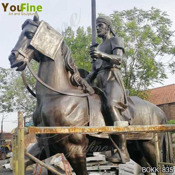 Custom Made Outdoor Bronze Knight on Horse Statue
