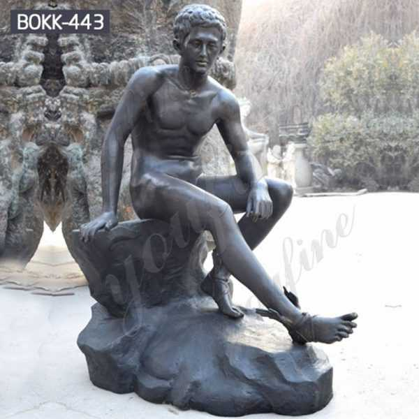 Custom Made Roman Hermes Resting Bronze Statue for Sale