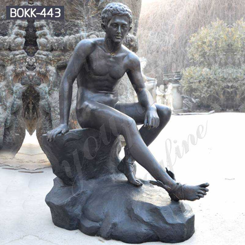 Custom Made Roman Hermes Resting Bronze Statue for Sale BOKK-443