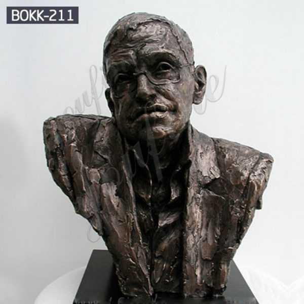 Custom Made Stephen Hawking Bronze Bust Sculpture for Home Decor