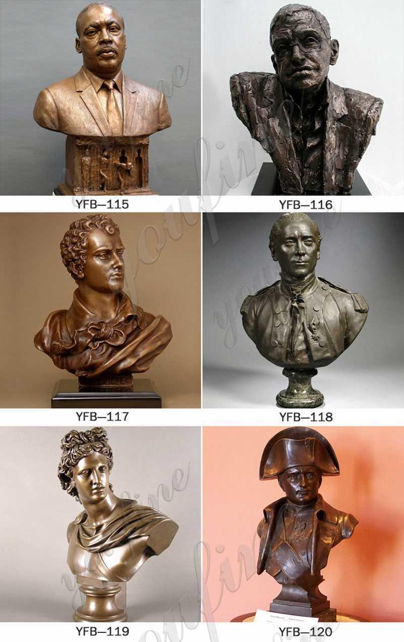 Custom bronze bust sculpture for sale