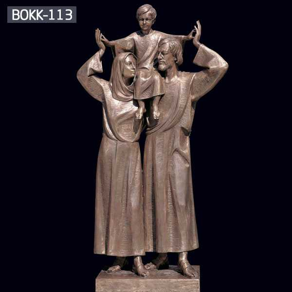 Customized Religious Casting Antique Bronze Holy Family Statue Online BOKK-113