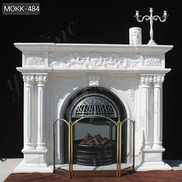 Exquisite Marble Fireplace Customized Hand carved French Design Supplier MOKK-484