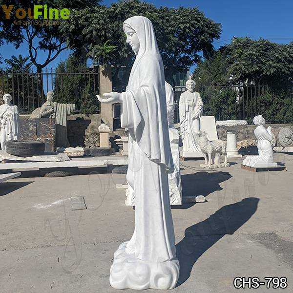 Factory Supply Life Size Virgin Mary Marble Statue
