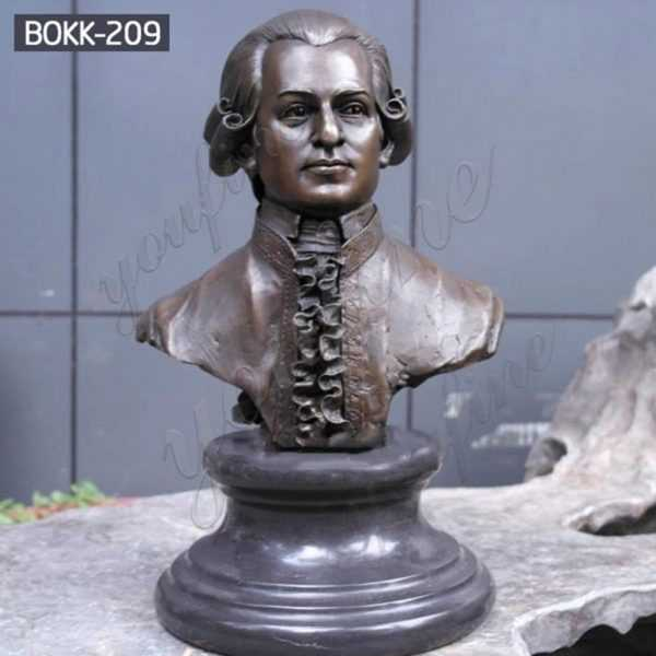 Famous Custom Bronze Mozart Bust Statue from Factory Supply